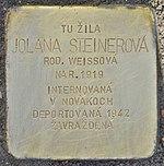 Stolperstein für Jolana Steinerova (Prievidza).jpg
