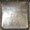 Stolperstein in Soest Grandweg15 Johanna Zilversmit.jpg