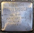 Stumbling block for Denny Sperber (Zwirner Straße 33)