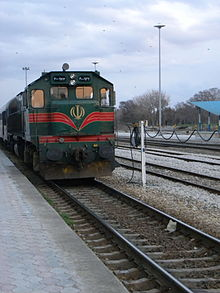 Stopped train at evening- Nishapur Railway Station.jpg