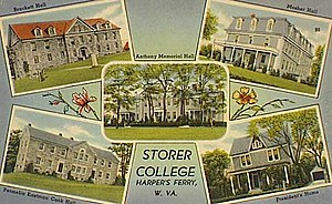Harpers Ferry National Historical Park - Storer College postcard (1910)