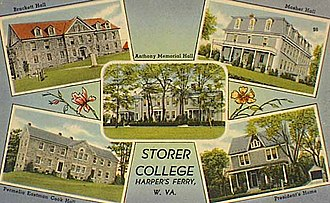 Harpers Ferry National Historical Park - Storer College postcard (1910)