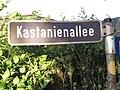 Straßenschild Kastanienallee, Tastrup 2014.jpg