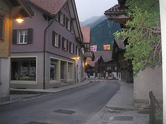 Brienz - A street in Brienz village