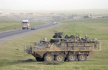 A US Army (USA) M1126 Stryker Infantry Carrier...
