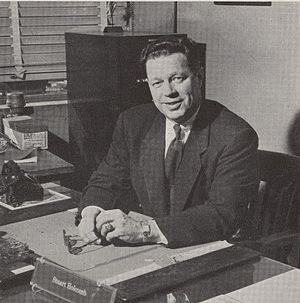 Stu Holcomb - Holcomb pictured in Debris 1954, Purdue yearbook