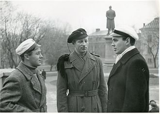 Student cap - A collection of various models in 1943 (from left to right: Danish, Norwegian and Swedish).