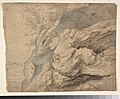 Study of the Side of a Rocky Cliff (recto); Dam on a Mountain Stream (verso) MET DP801536.jpg