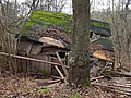Stuttgart, Plieningen, Verfallene Hütte im Weidachwald (Heidfeld), 20200111, yj.jpg