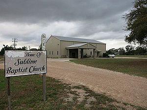 Sublime, Texas - Image: Sublime TX Baptist Church