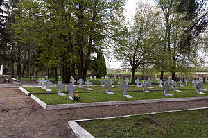 Stalag I-B's cemetery in Sudwa, with mass graves of Polish and Soviet prisoners.