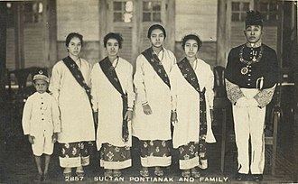 Pontianak, Indonesia - Sultan Syarif Muhammad Alkadrie of Pontianak and Family, circa 1920