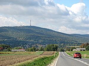 Święty Krzyż TV Tower - RTCN Święty Krzyż,view in Nowa Słupia