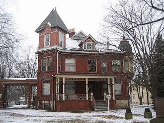 Charles O. Boynton House - The red brick facade of the Boynton House has aged fairly well.