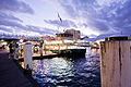 Sydney First Fleet Class vessel the Fishburn loads passengers at King Street Terminal-Darling Harbour.jpg