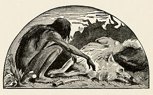 Akela (The Jungle Book) - The death of Akela after his battle with the dholes, as illustrated in page 280 of the 1895 edition of The Two Jungle Books by Rudyard Kipling