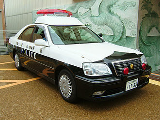 Aichi Prefectural Police - Image: TOYOTA 170 system Crown police car