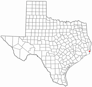 Bridge City, Texas - Image: TX Map doton Bridge City