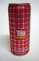 A can of Tab Energy