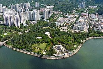 Tai Po Waterfront Park - Aerial view Tai Po Waterfront Park