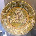 Talavera plate with boy riding hobby horse, ceramic - Museo Nacional de Artes Decorativas - Madrid, Spain - DSC08120.JPG