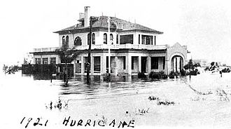 1921 Tampa Bay hurricane - Flooding at the St. Petersburg Yacht Club