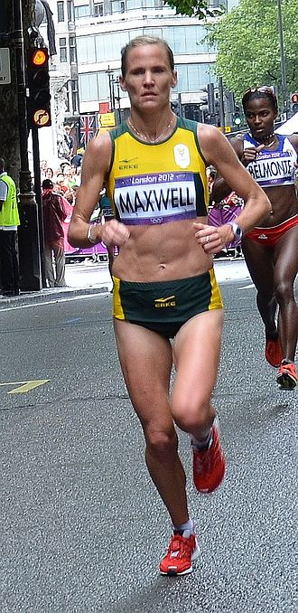 Tanith Maxwell - Maxwell in the 2012 Summer Olympics marathon