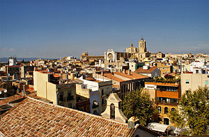 Province of Tarragona - View over the port city of Tarragona