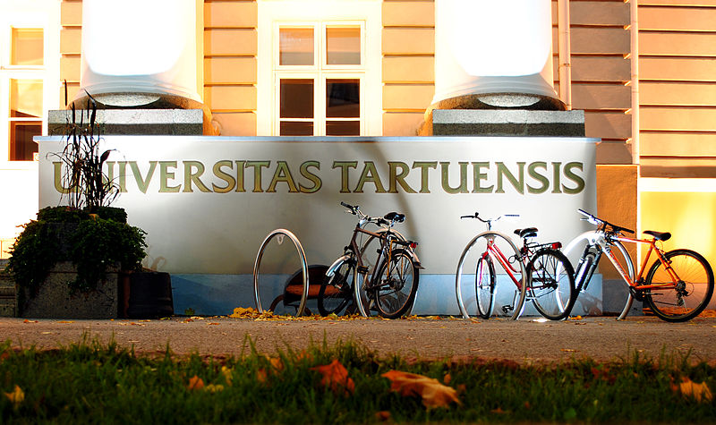 Tartu University with bikes