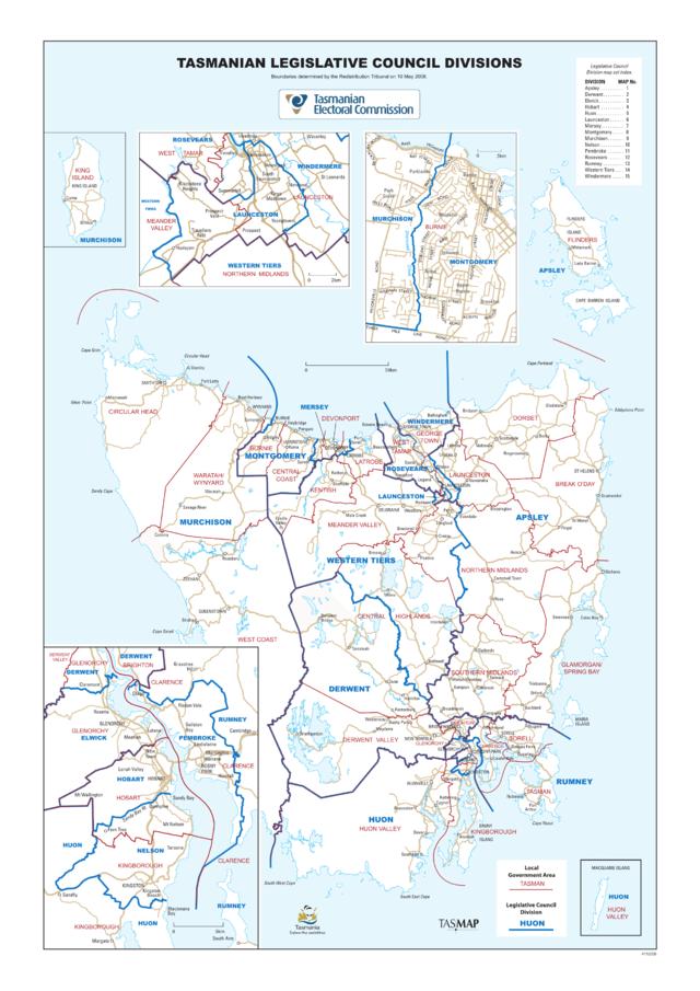 Legislative council tasmania boundaries in dating