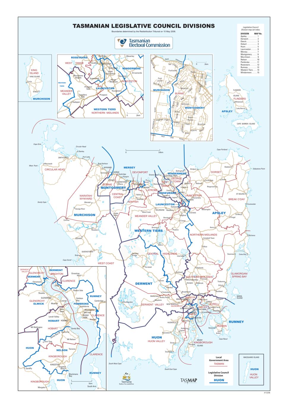 Tasmanian State Electorates
