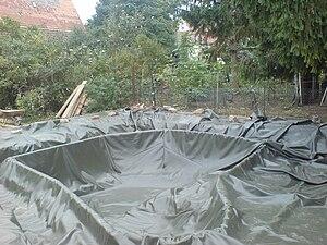 Pond liner - Pond liner for a garden pond