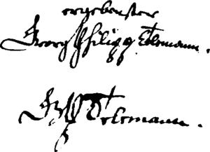 Georg Philipp Telemann - Telemann's signature (1714 and 1757)