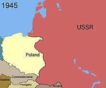 Territorial changes of Poland 1945.