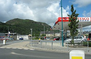 English: Tesco Service Station, Porthmadog