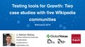 Testing tools for Growth, Two case studies with five Wikipedia communities.pdf