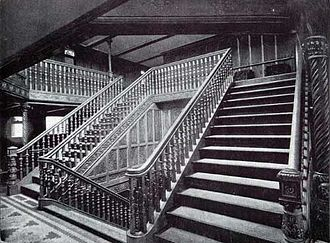 RMS Teutonic - The main staircase of Teutonic