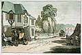 The ' Spread Eagle' at Hook - a village 43 miles from London (caricature) RMG PW4933.jpg