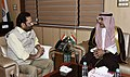 The Ambassador of Saudi Arabia to India, Dr. Saud bin Mohammed Al-Sati meeting the Union Minister for Minority Affairs, Shri Mukhtar Abbas Naqvi, in New Delhi on May 04, 2018 (1).JPG