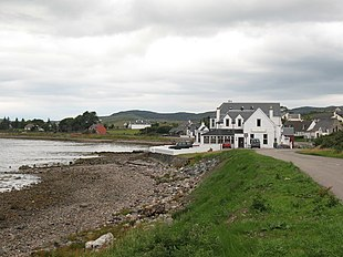 The Aultbea Hotel on the foreshore