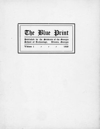 Blueprint (yearbook) - Cover of The Blue Print, 1908