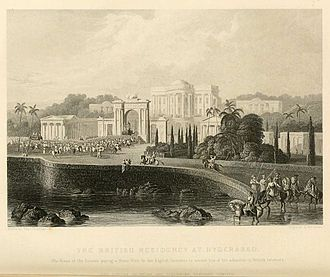 Resident (title) - The British Residency at Hyderabad