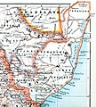 The Castle Line atlas of South Africa - a series of 16 plates, printed in colour, containing 30 maps and diagrams, with an account of the geograaphical features , the climate, the mineral and other, Zululand.jpg