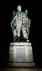 The Commando Memorial by night