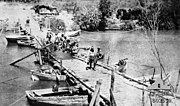 The Damieh bridge captured by the New Zealand Mounted Rifles Brigade