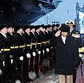 The Defence Minister, Shri A. K. Antony receives a Guard of Honour by the Russian Navy guards, on his arrival to attend the commissioning of INS Vikramaditya in Indian Navy, at Sevmash Shipyard in Russia on November 16, 2013.jpg