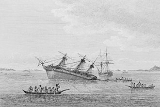 Queen Charlotte Strait - The Discovery ran aground in early August 1792 on hidden rocks in Queen Charlotte Strait near Fife Sound. Within a day the Chatham also ran aground on rocks about two miles away.