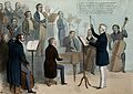 The Duke of Wellington conducts an orchestra comprising of c Wellcome V0050248.jpg