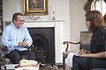 The Guardian senior news writer Esther Addley interviewing Ecuadorian Foreign Minister Ricardo Patiño.jpg