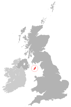 Location of the Isle of Man